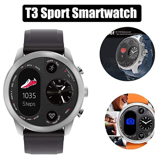 Smart Watch, T3 Hybrid Digital Smart Deportes Relojes para ...