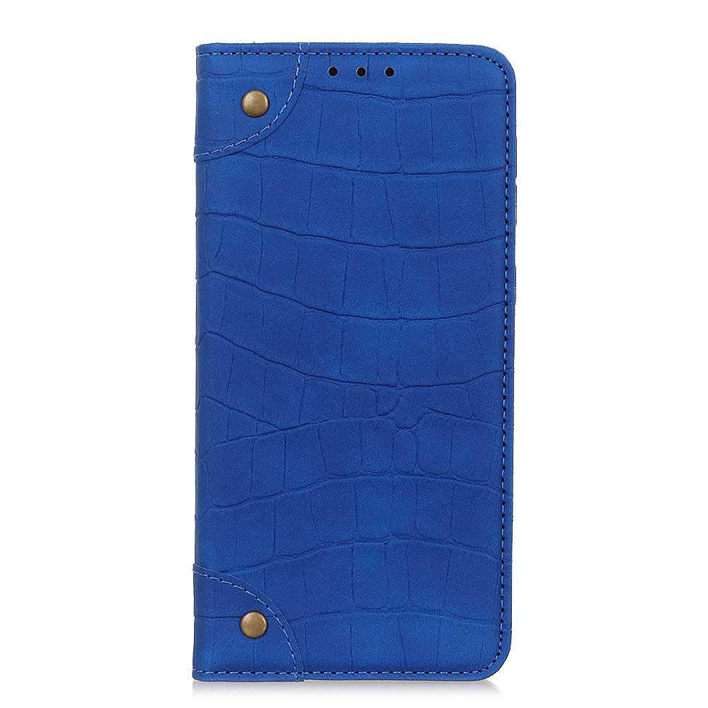The Grafu Case for Samsung Galaxy A70, Galaxy A70 Anti Scratch PU Leather and Shockproof TPU Backcover with Magnetic Closure, Crocodile Pattern, Blue by The Grafu