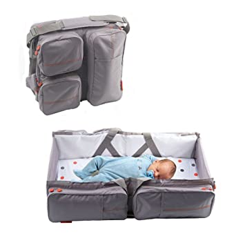 40c81f25fe7 Delta Baby Travel Bag and Carrycot (Taupe)  Amazon.co.uk  Baby