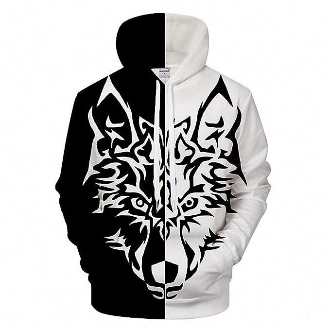 Amazon.com: Anime Wolf Sudaderas con capucha para hombre ...