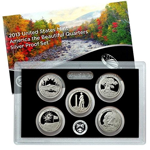 2013 S Silver America the Beautiful National Parks Quarters Proof Set with Box and CoA Proof (Silver Quarter Proof)