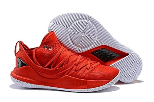 0b366912e82 UnderArmour Stephen Curry 5 Low Red Basketball Shoes for Men (8.5 UK ...