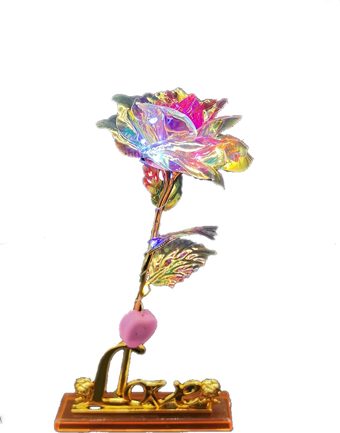 Best Gifts for Her for Girlfriend Wife Women LY EMMET Colorful Rose Artificial Gold Roses Flower Unique GiftsValentines Day Thanksgiving Mothers Day Girls Birthday