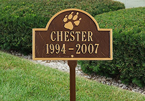5020 - Personalized Two Line Pet Paw Mini Arch Lawn Marker