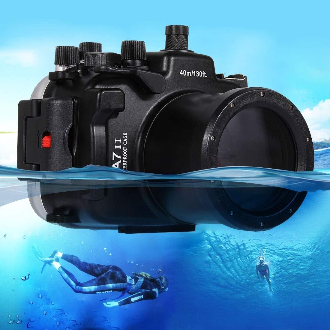 ソニーA7 II / A7R II / A7S IIのための40メートル水中深度ダイビングケース防水カメラハウジング   B07PFCLP4S