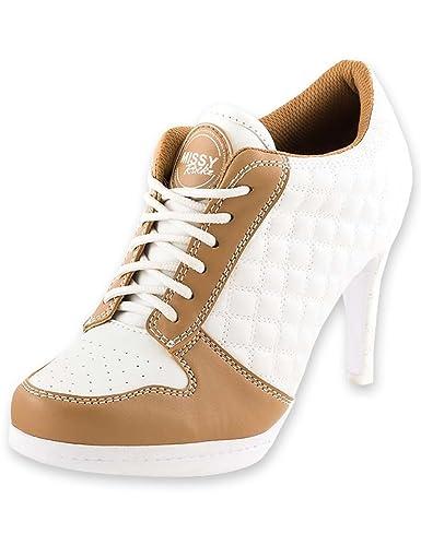 High Heels Cm Moderne Damenschuhe Weißcappuccino 8 Sneaker Missy Bequeme Zone Square Freizeitschuhe Absatz Mit Rockz 5 Fcl1TKJ