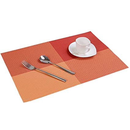 Set of 9 Placemats /& Coasters /&Table Mat Resistant Anti Slip Table Place Mats