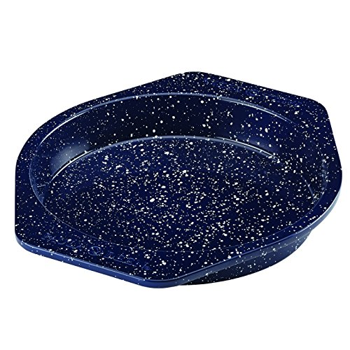 - Paula Deen 46815 Nonstick Bakeware Cake Pan, Deep Sea Blue Speckle
