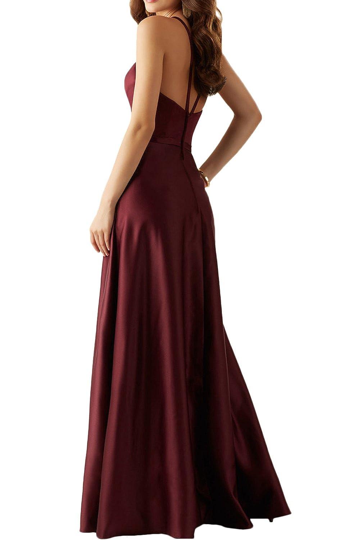 Missdressy Elegant Romantisch A-Linie Lang Neckholder Satin Abendkleider  Brautmutterkleider: Amazon.de: Bekleidung
