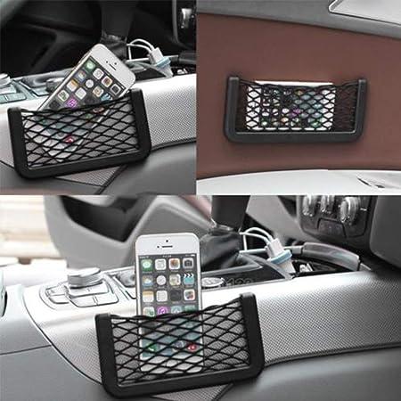1x Universal Car Seat Side Back Net Storage Bag Phone Holder Pocket Organizer LB