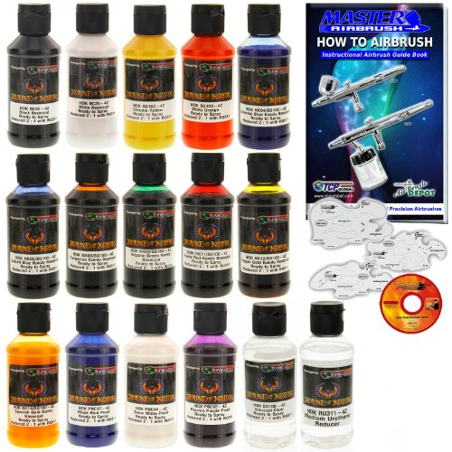 House of Kolor 4oz 14 COLOR KIT KANDY GRAPHIC METALLIC PEARL Basecoat & Stencils