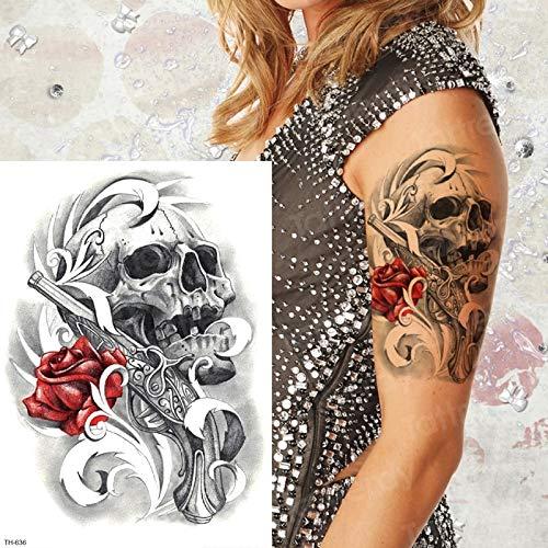 tzxdbh Tatuaje Temporal Brazo de la Muerte Etiqueta engomada del ...
