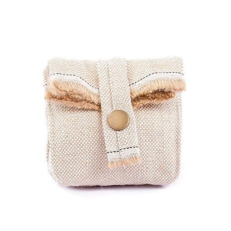 Bolsa de almacenamiento plegable de algodón y lino, monedero ...
