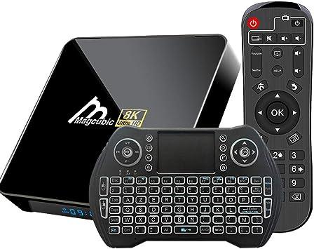 Android TV Box 10, 4GB 64GB TV Box Compatible con 8K 4K 3D, Amlogic s905x3 Dual-WiFi 2.4g / 5g Smart TV Box con Mini Control Remoto de Voz: Amazon.es: Electrónica