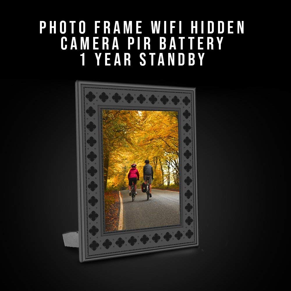 Nuvending Night Vision /& Instant Alerts NuCam Yieye WiFi Photo Frame Hidden Spy Camera for Home//Office Security /& Pet//Kid Surveillance w 720P HD Bonus 16GB SD Card Included 365 Days Battery Life