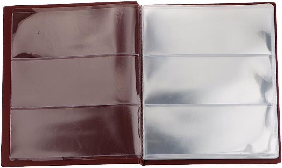 SM SunniMix 20 La P/ágina De /álbum De Colecci/ón De Billetes De Papel Moneda Dinero #b Libro Azul Oscuro Azul Oscuro