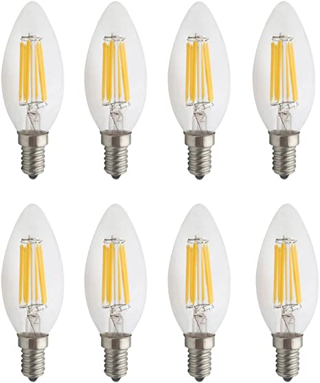 uxcell E14 LED Bulb Microwave Oven Light 4W Warm White 2700K 600lm for Ceiling Fan Light Fixture 2pcs