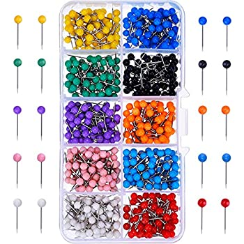 outus map tacks push pins plastic head with steel point 1 8 inch 500 pieces