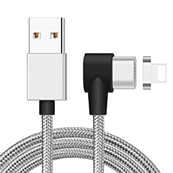 JFS Cable De Carga Magnético, Cargador Cable De Relámpago Rápido ...