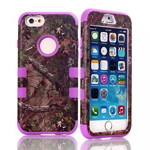 Tech Express (Tm) i6+ Purple Tree Trim Rubber Apple iPhone 6+ / 6 Plus 5.5