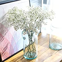 Miracliy 6pcs Gypsophila Artificial Flowers 26'' Artificial Baby Breath Flowers for Wedding Party Home Decor (White)