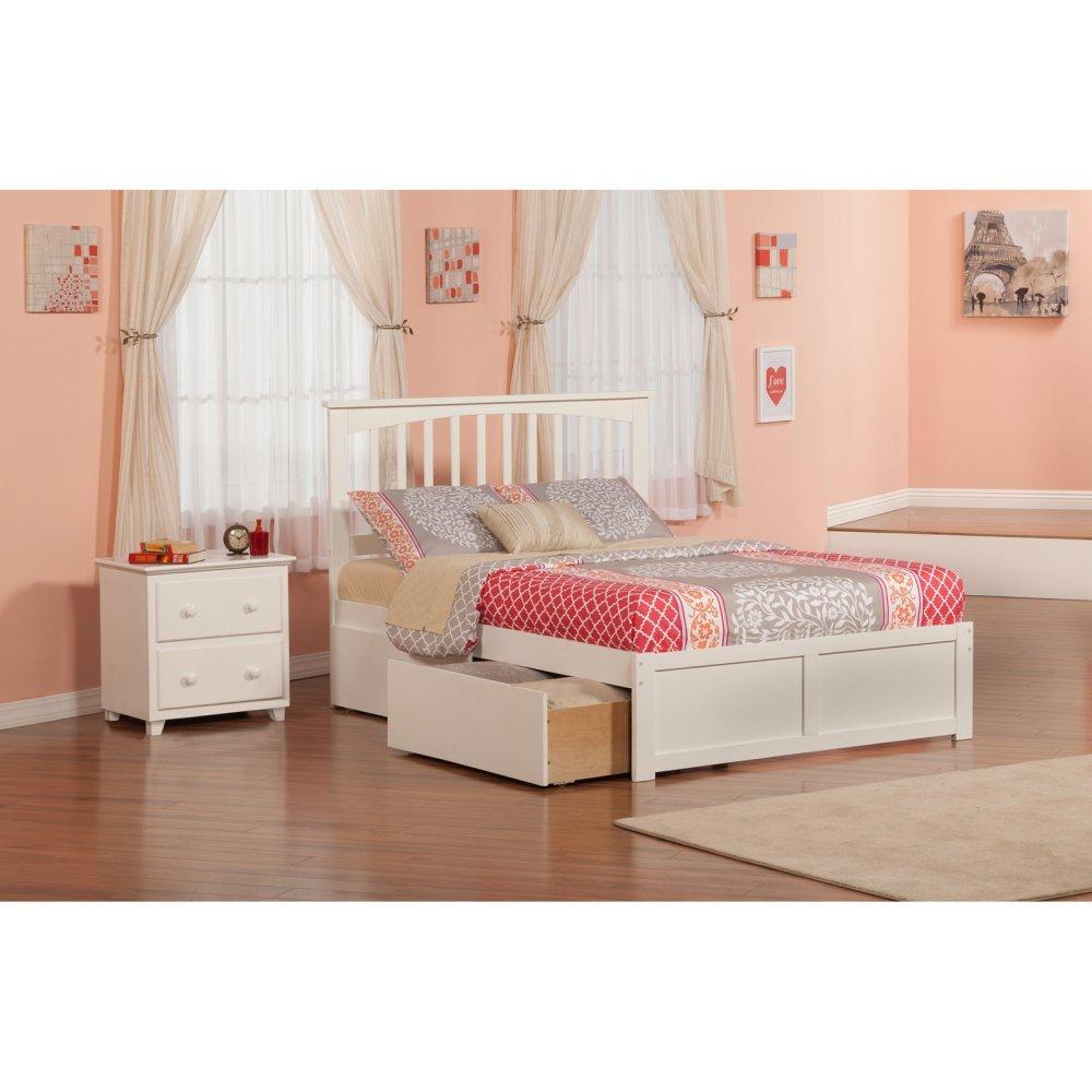 Atlantic Furniture Mission Bed Set Full UBD Nightstand