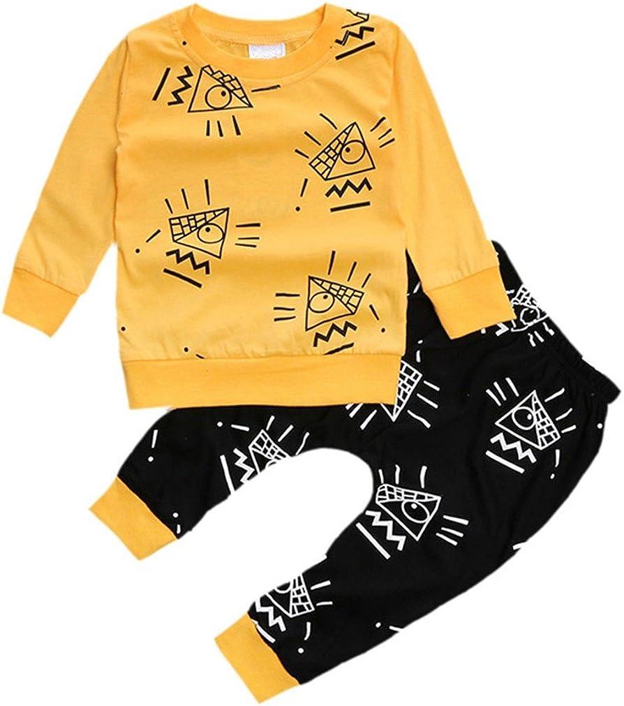 Samgu Infantil Ni/ños Beb/é Chicas Chicos Conjuntos Manga Larga Tops Pantalones Conjunto de Ropa
