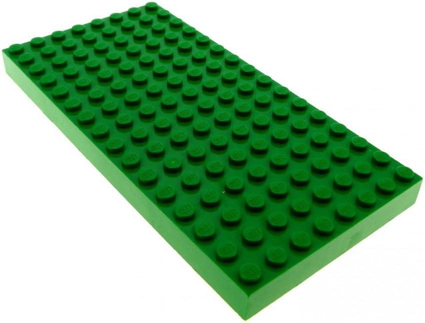 LEGO 2 Platten alt dunkel GRAU  8x16 dicke Bauplatte 44041 Basic City 4204