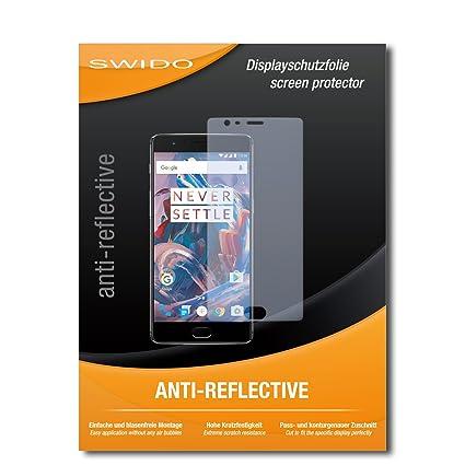 SWIDO® Displayschutzfolie für OnePlus 3 [3 Stück] Anti-Reflex MATT Entspiegelnd, Extrem Kratzfest, Schutz vor Kratzer/Display