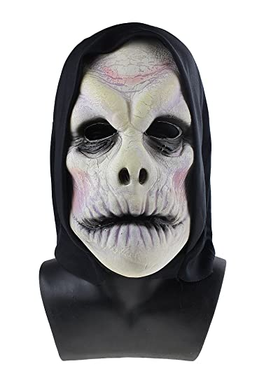 Christmas Zombie Costume.Amazon Com Soft Full Head Mask With Hood Horror Zombie Mask