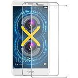 [2-Pack] Huawei Honor 6X Cristal Templado Protector de Pantalla, Nazzamo Huawei Honor 6X Templado Vidrio Protector de Pantalla [9H Dureza] [Ultra-trasparente] [Sin Burbujas] [Resistente a Arañazos] Protector Cristal Vidrio Templado para Huawei Honor 6X