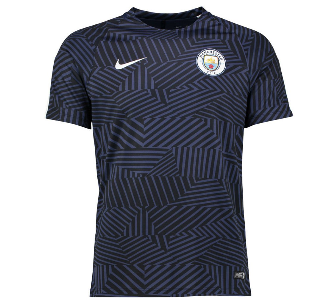 2016-2017 Man City Nike Pre-Match Training Shirt (Midnight Navy) B006Y01R1QNavy Small 34-36\