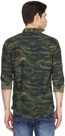 Superdry Camisa Rookie Tiger Camo Verde Hombre
