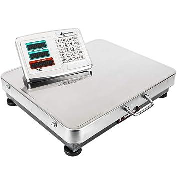 PrimeMatik - Balanza Industrial de Plataforma 52x42 cm. Báscula portátil de Acero Inoxidable 300 Kg: Amazon.es: Electrónica