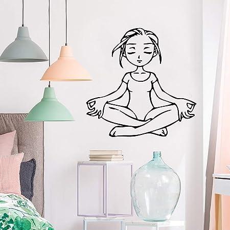 yiyiyaya Chica de Yoga Divertida Pegatinas de Pared ...