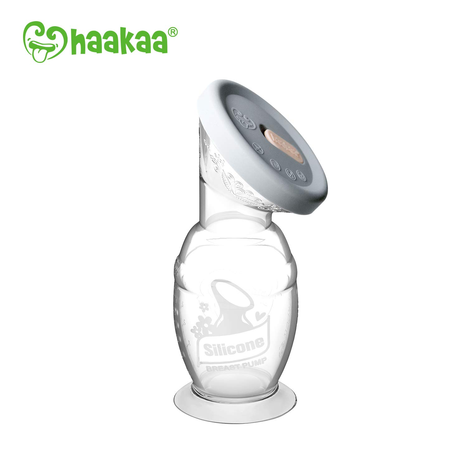 Haakaa Gen 2 Silicone Breast Pump with Suction Base and Leak-Proof Silicone Cap, 4 oz/100 ml, BPA PVC and Phthalate Free by haakaa