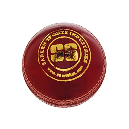 1886afcf5d1 SS County Alum Tanned Cricket Ball - Single (Red)  Amazon.in  Sports ...