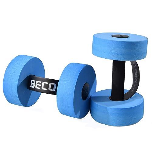 BECO Aqua - Mancuernas para uso acuático (2 unidades, tamaño mediano)