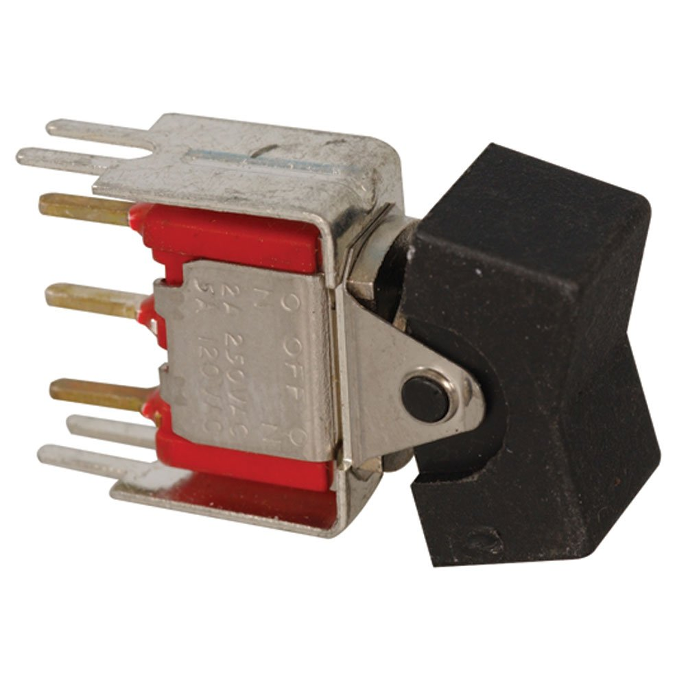 Pack of 10 ITT Industries Cannon 7105J1V3QE2 SPDT Rocker Switch 7 Pin 5A 120V Black