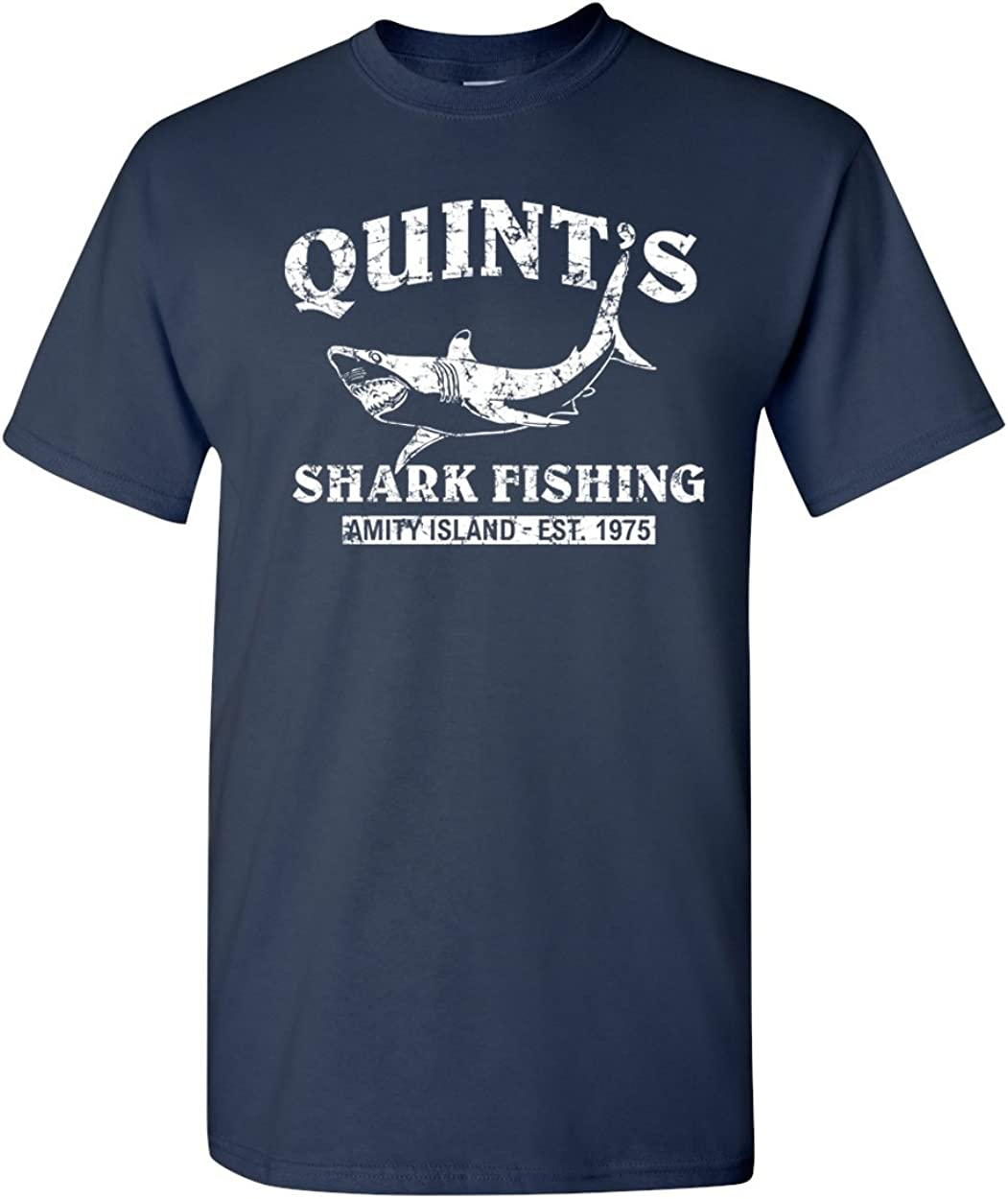 Quint's Shark Fishing - Jaws Retro Men's T-Shirt