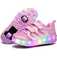 Naughty KK Wheel Sneaker with Lights for Girls Roller Skates Shoes Breathable Sneakers Shoes with Wheels