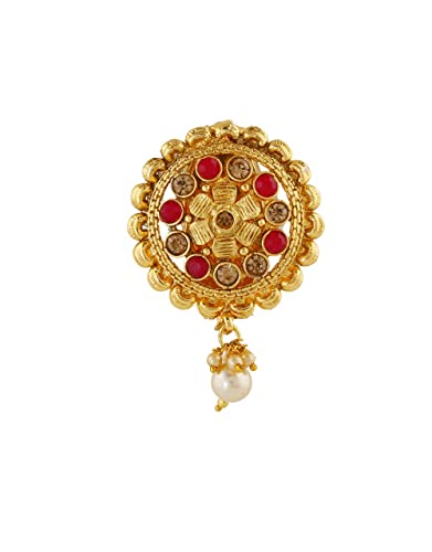 caeaad3cd Buy Anuradha Art Red Colour Wonderful Designer Saree Pin for Women/Girls  Online at Low Prices in India   Amazon Jewellery Store - Amazon.in
