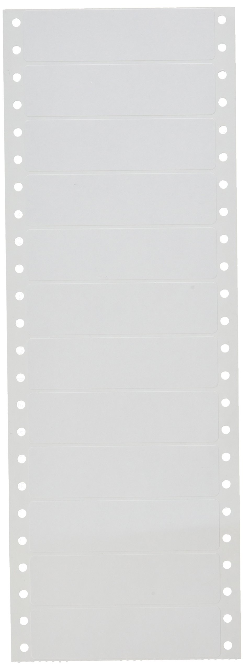 Compulabel Pinfeed Labels Fanfold Permanent Adhesive, 3 1/2'' x 15/16'', White (110654)