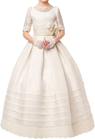 Graceprom Cute Half Sleeves First Communion Dresses Ball Gown for Kids