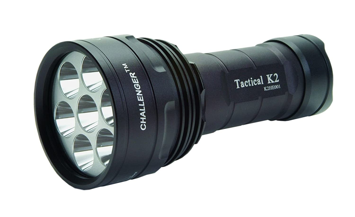 MicroFire Challenger L500R Tactical Flashlight LED + K1N Li-Ion battery pack 2150mAh + charger Hochleistungs-Taschenlampe