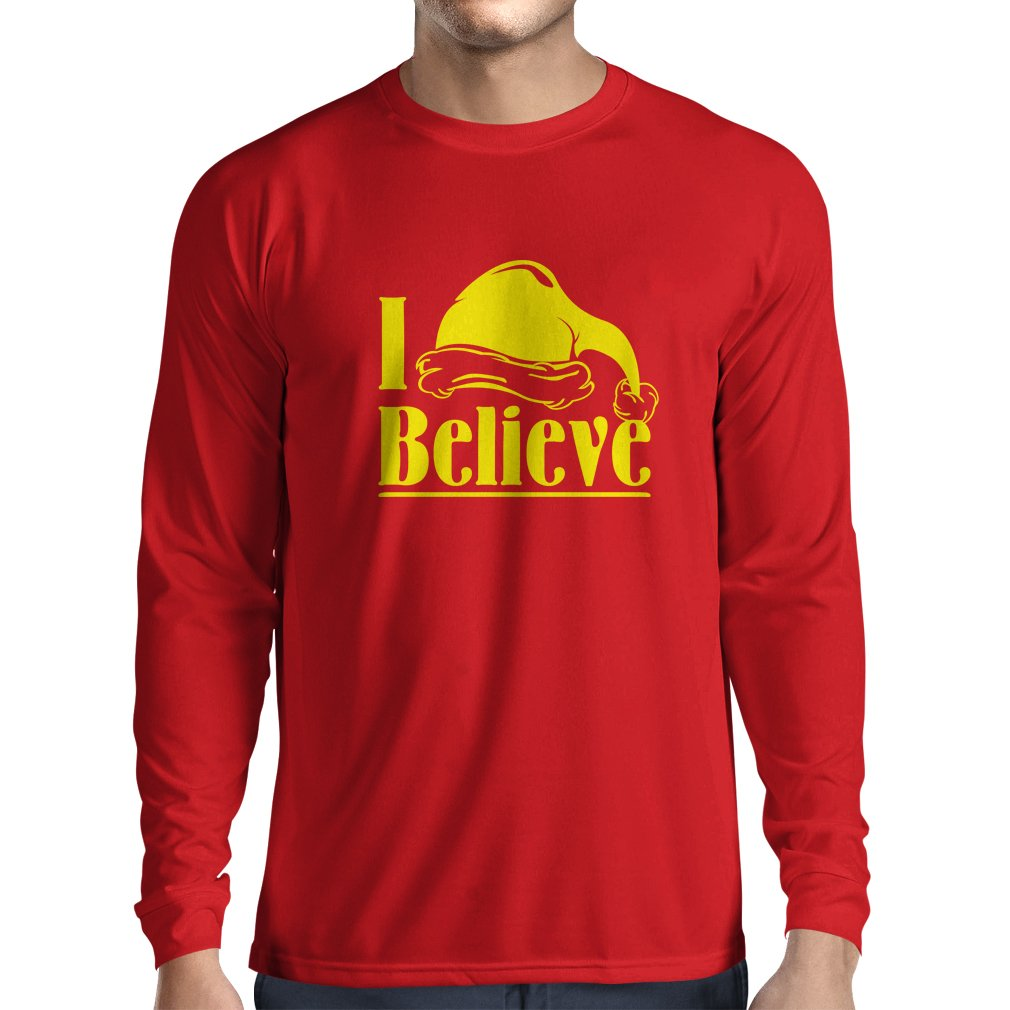 Xmas Shirt lepni.me Men/'s T-Shirt I Believe in Santa Claus Christmas Quote
