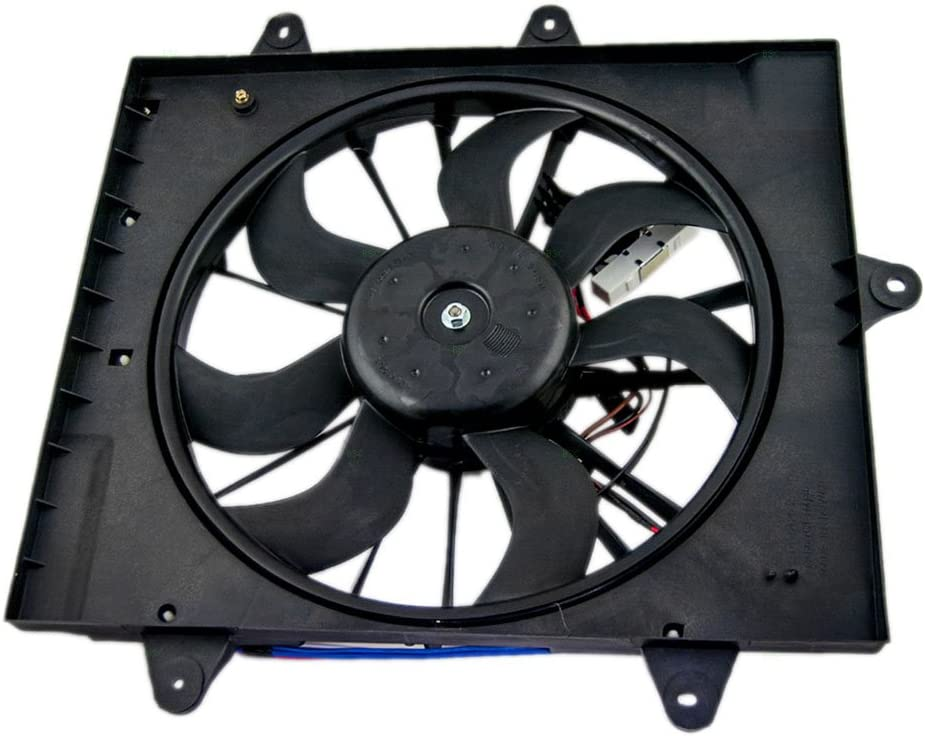 Radiator Cooling Fan Assembly Replacement for 06-09 Chrysler PT Cruiser Turbo 5179463AA