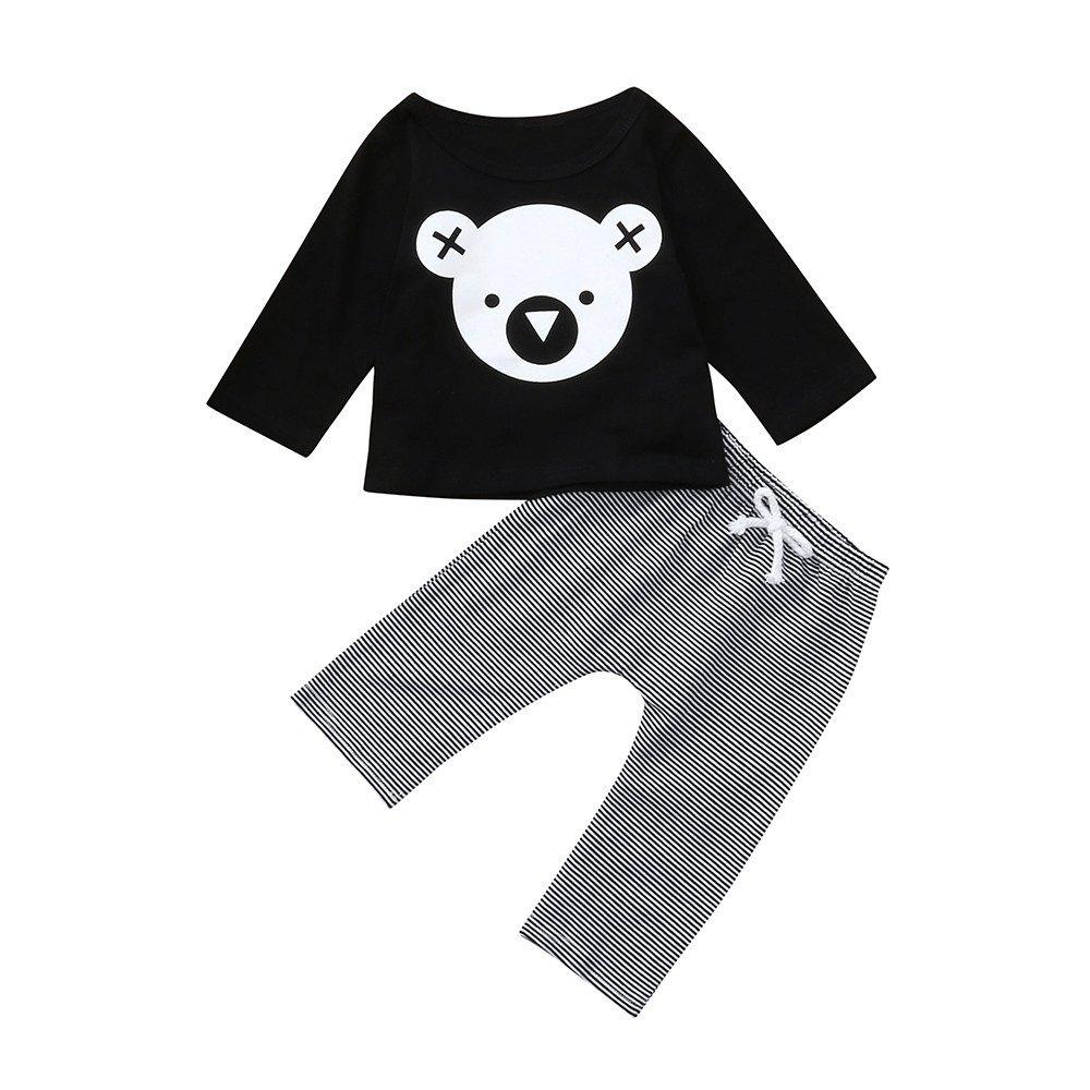Pantalon Ray/é Costume Baohooya Vetement Ensemble Bebe Fille//Garcon 6-24 Mois Hiver Chaud Enfant Manches Longues Dessin Anim/é Koala Impression T-Shirt