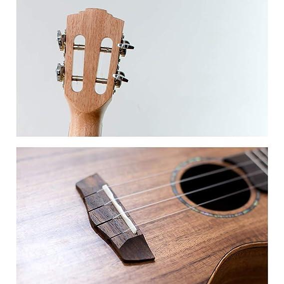 Miiliedy Práctica de madera clásica Ukulele Principiante Chicas Hombres Práctica de autoaprendizaje Tocar el instrumento de guitarra pequeño hawaiano con ...