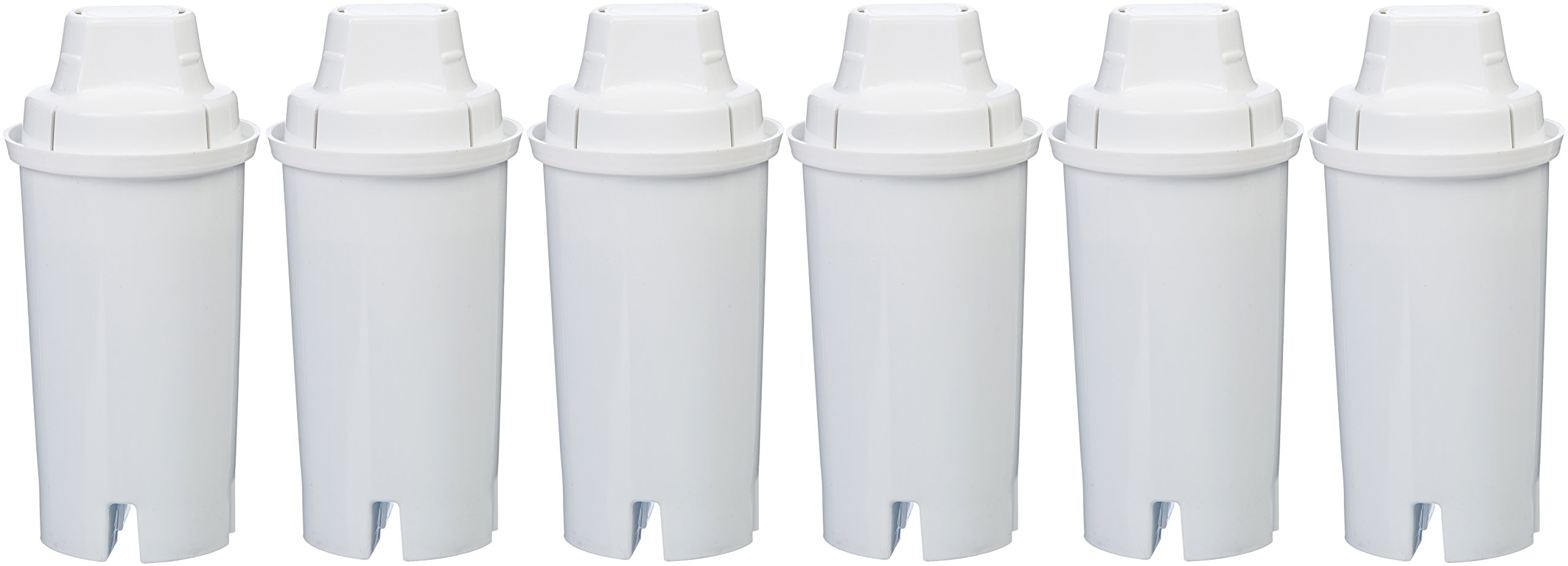 AmazonBasics Replacement Water Filters for AmazonBasics & Brita Pitchers - 6-Pack